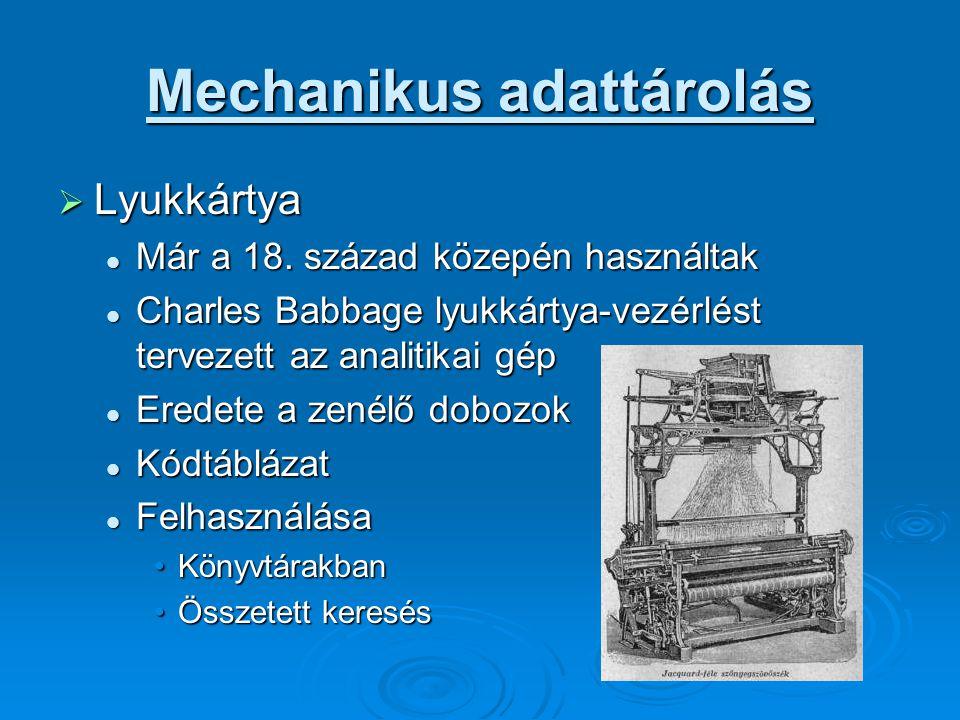 Mechanikus adattárolás