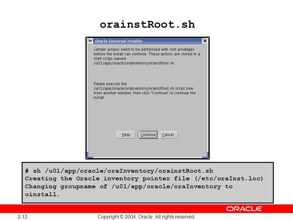 Oracle Database 10g: Administration Workshop I 2-12
