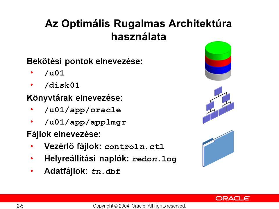 Az Optimális Rugalmas Architektúra használata