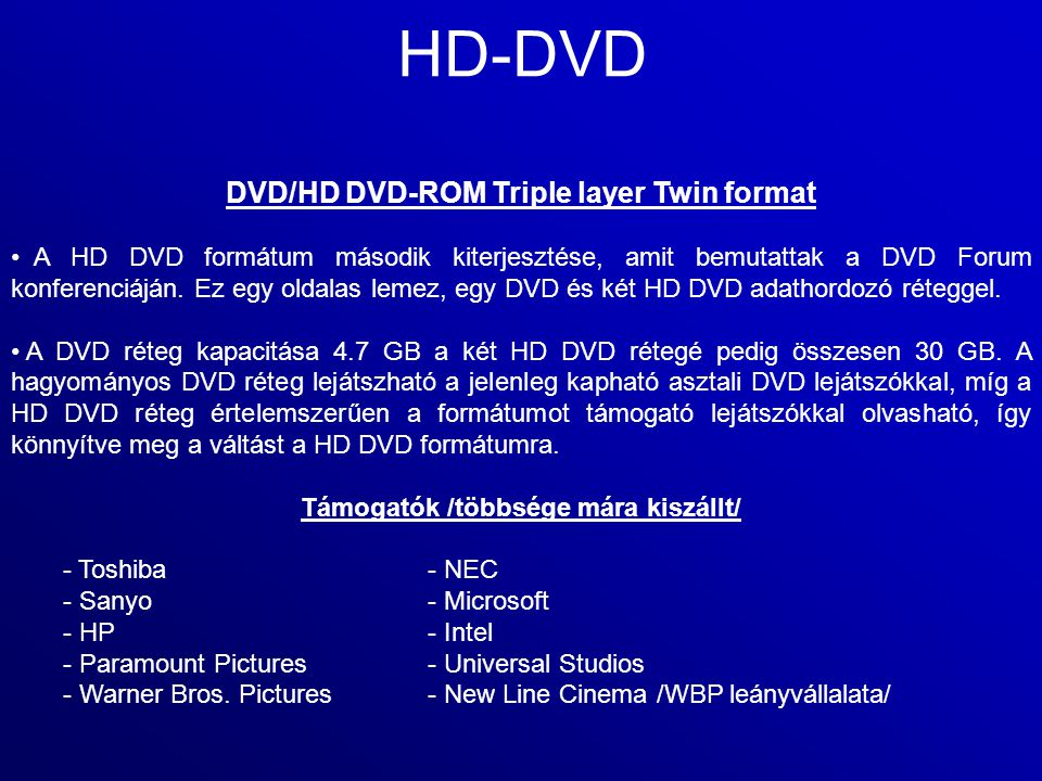 HD-DVD DVD/HD DVD-ROM Triple layer Twin format
