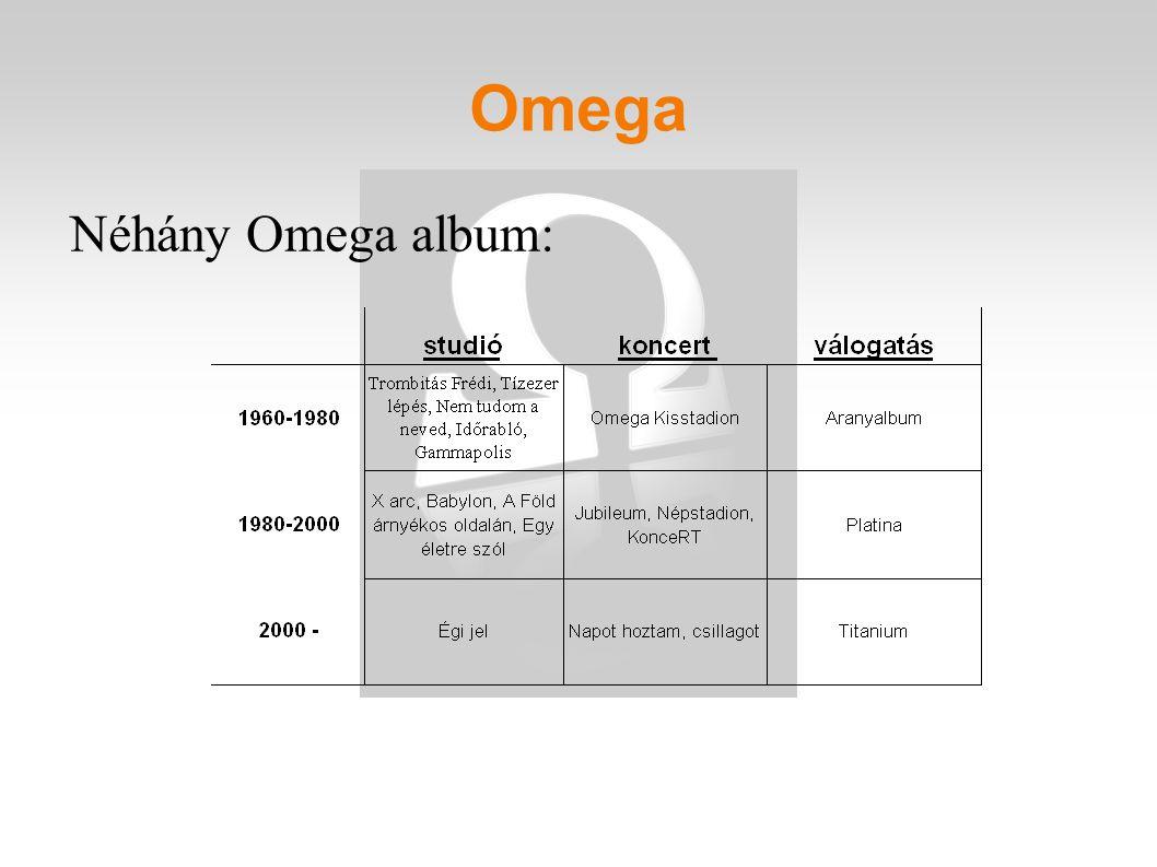Omega Néhány Omega album: