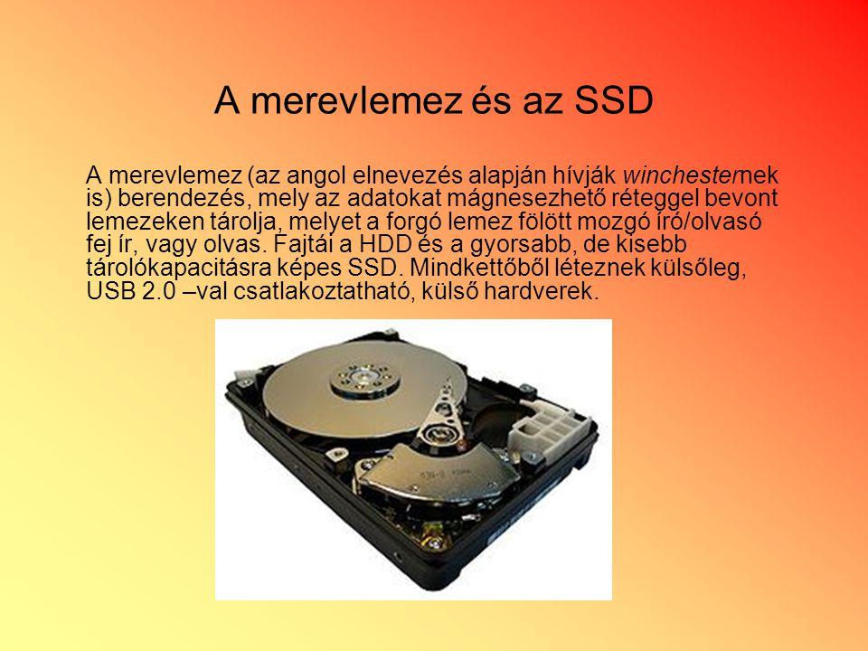A merevlemez és az SSD