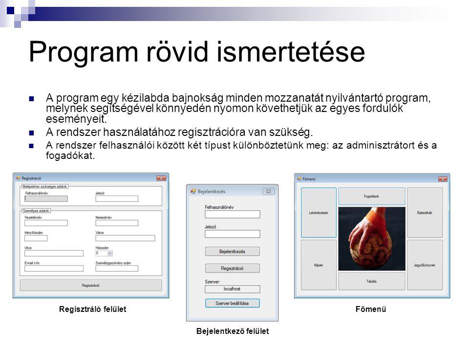 Program rövid ismertetése
