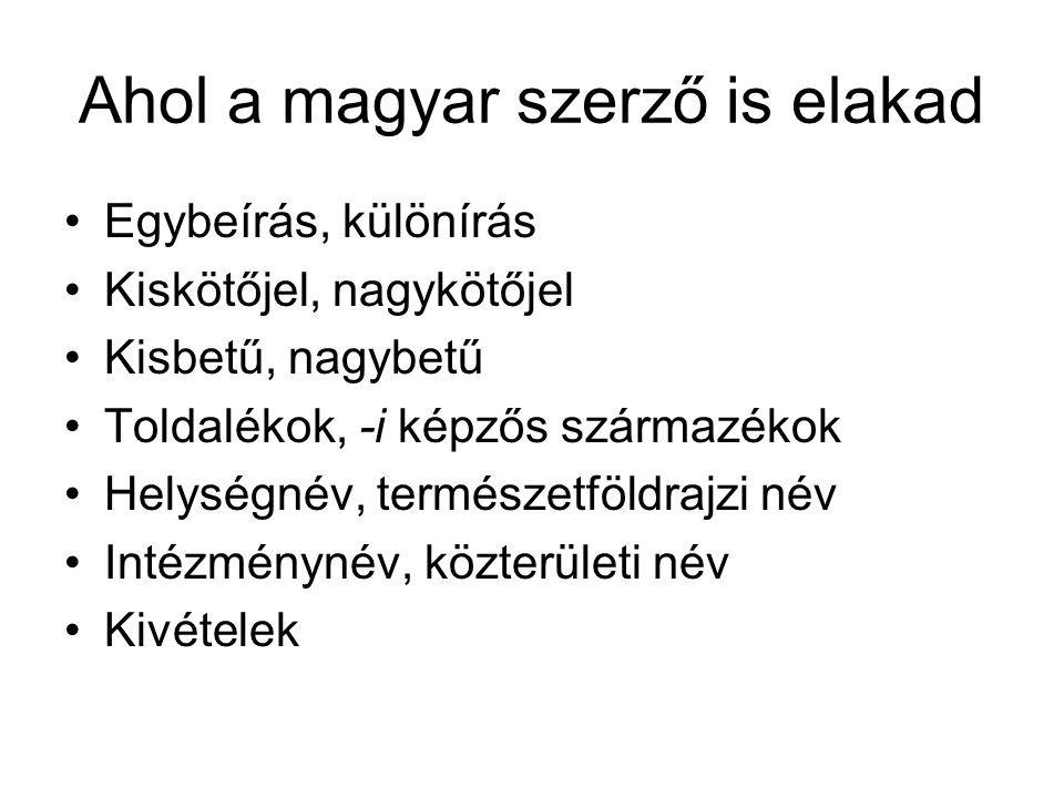 Ahol a magyar szerző is elakad