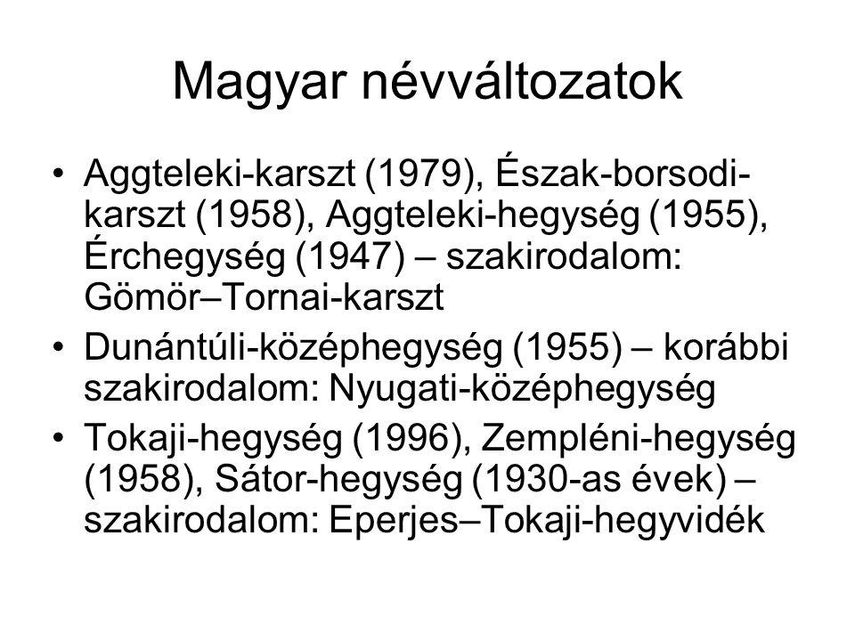 Magyar névváltozatok