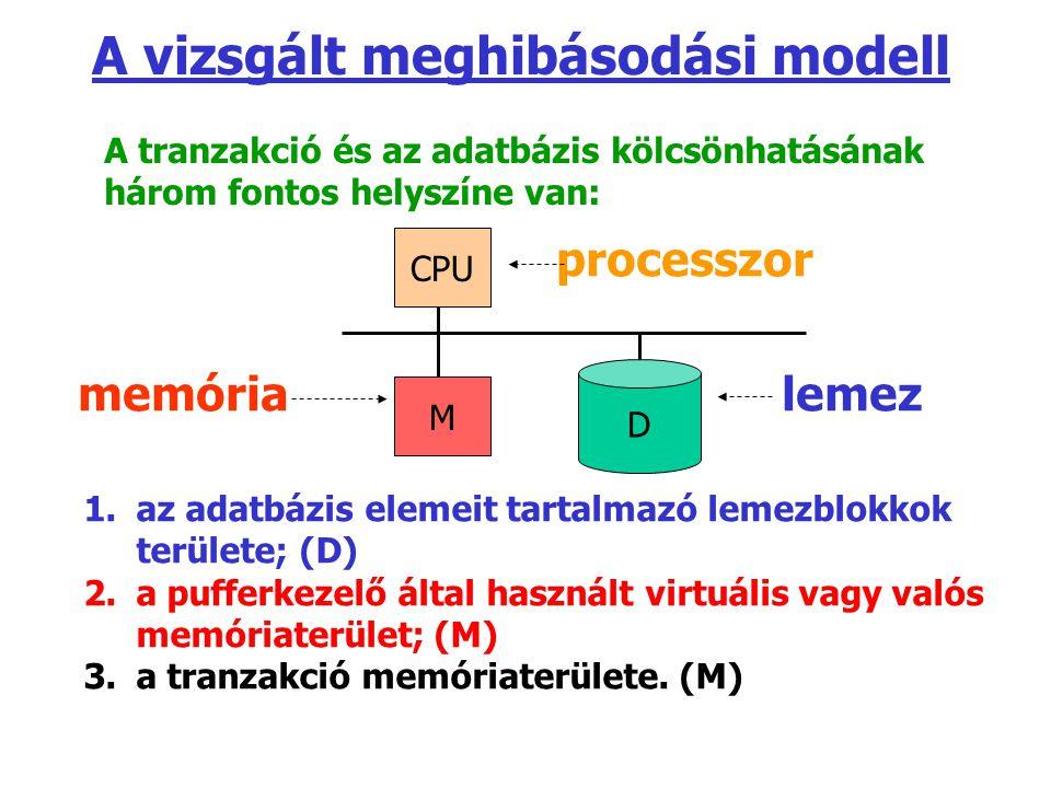 A vizsgált meghibásodási modell