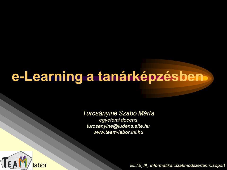 e-Learning a tanárképzésben
