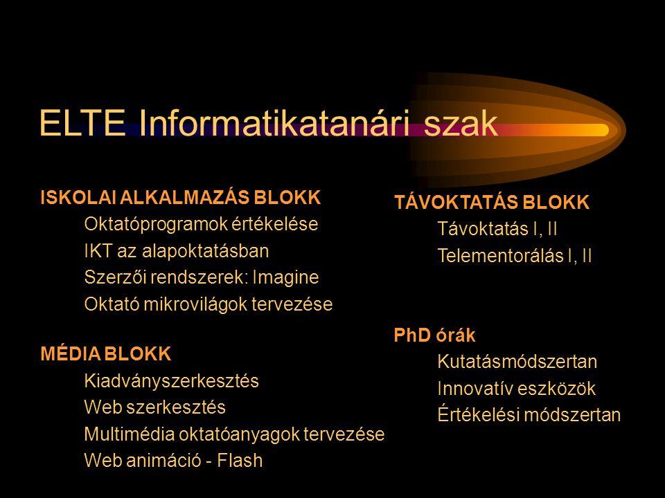 ELTE Informatikatanári szak