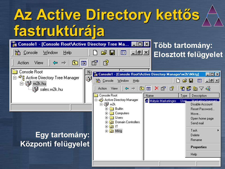 Az Active Directory kettős fastruktúrája