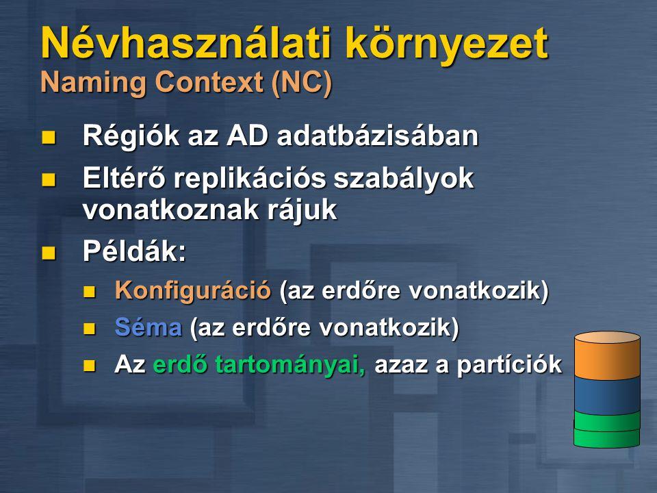 Névhasználati környezet Naming Context (NC)