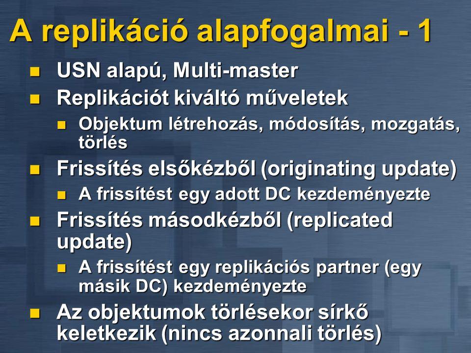 A replikáció alapfogalmai - 1