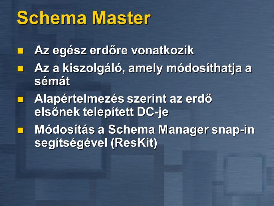 Schema Master Az egész erdőre vonatkozik