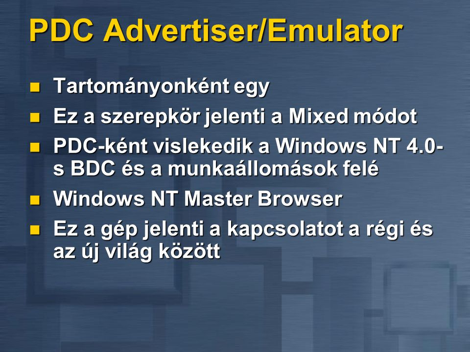 PDC Advertiser/Emulator