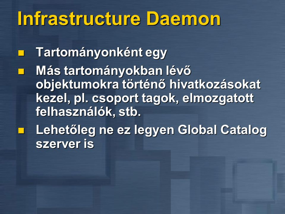 Infrastructure Daemon