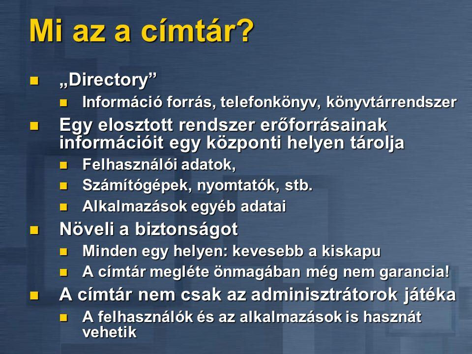 """Mi az a címtár """"Directory"""