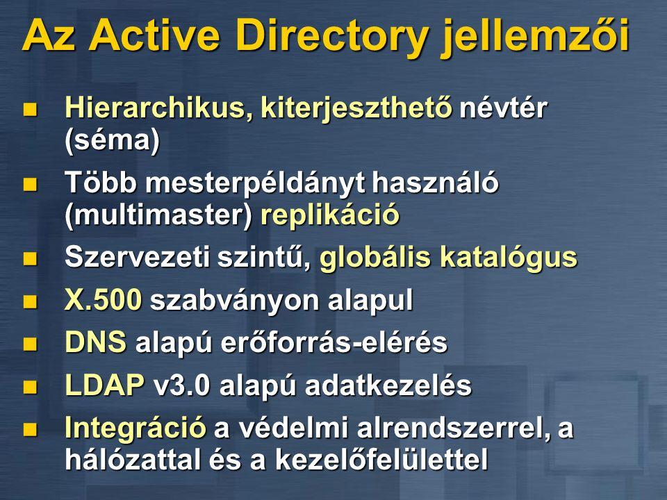 Az Active Directory jellemzői