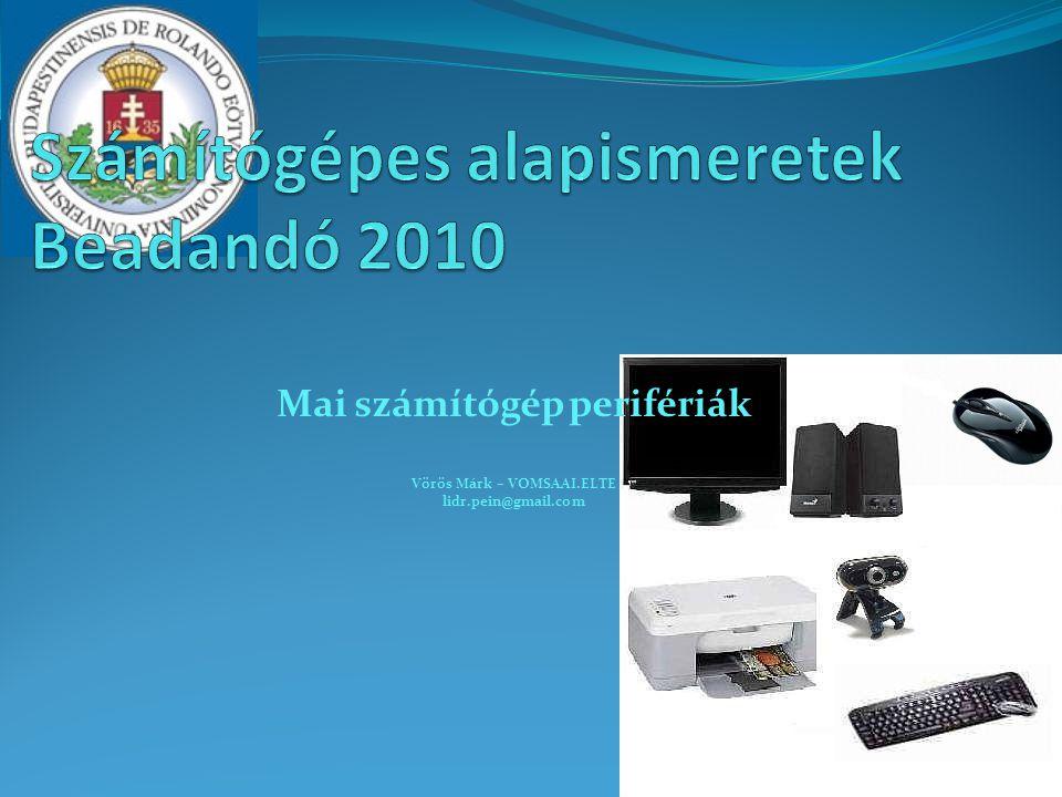 Számítógépes alapismeretek Beadandó 2010