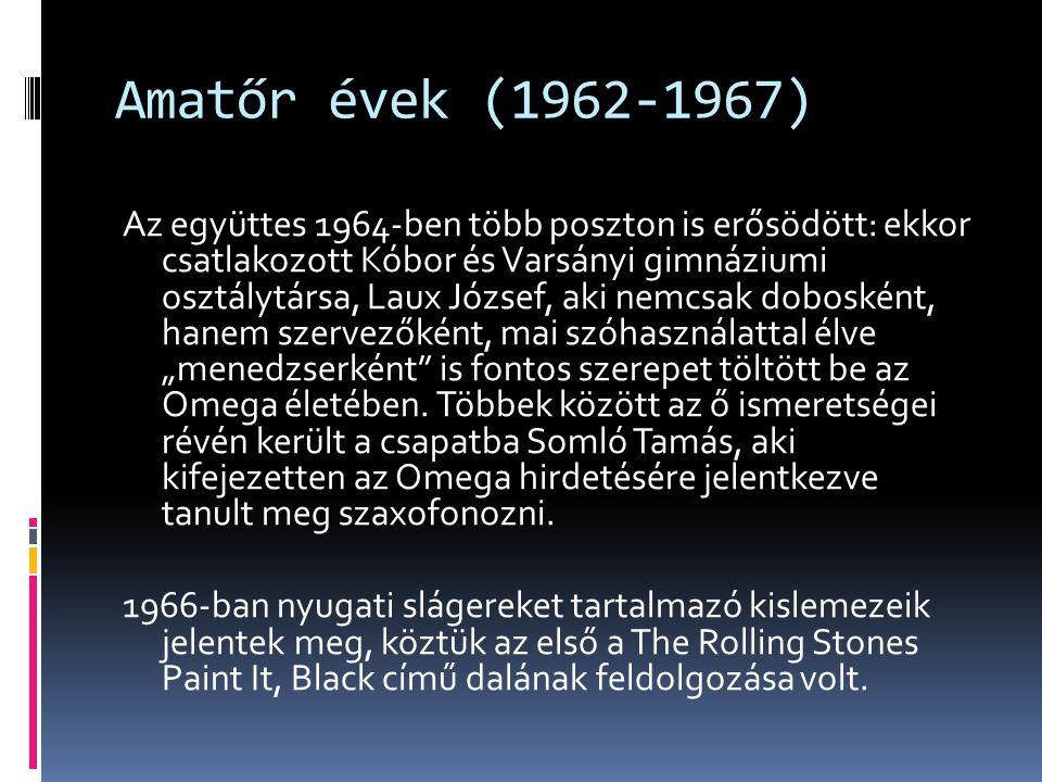 Amatőr évek (1962-1967)