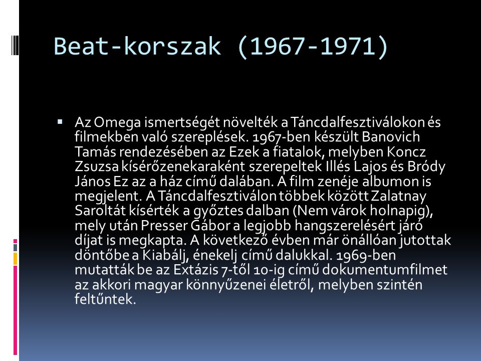 Beat-korszak (1967-1971)