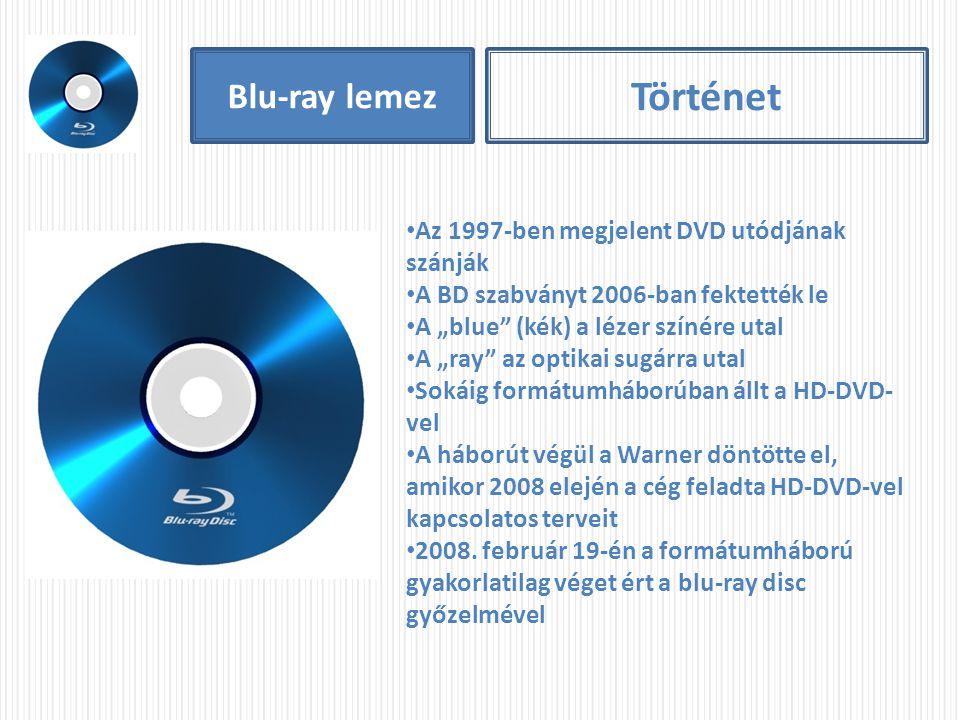 Történet Blu-ray lemez Az 1997-ben megjelent DVD utódjának szánják