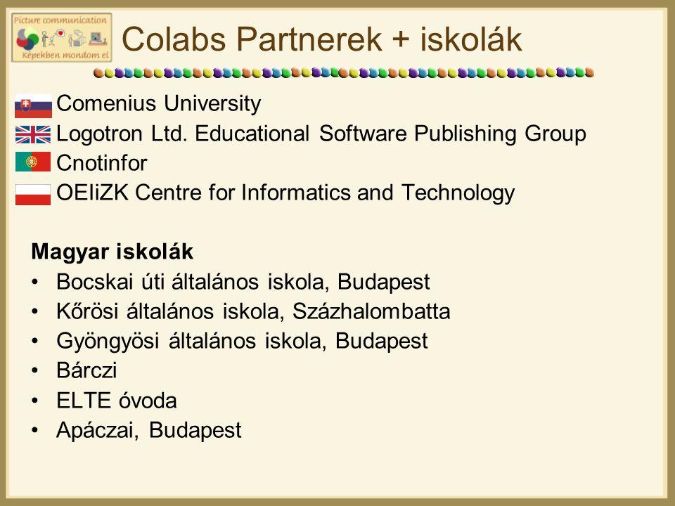 Colabs Partnerek + iskolák