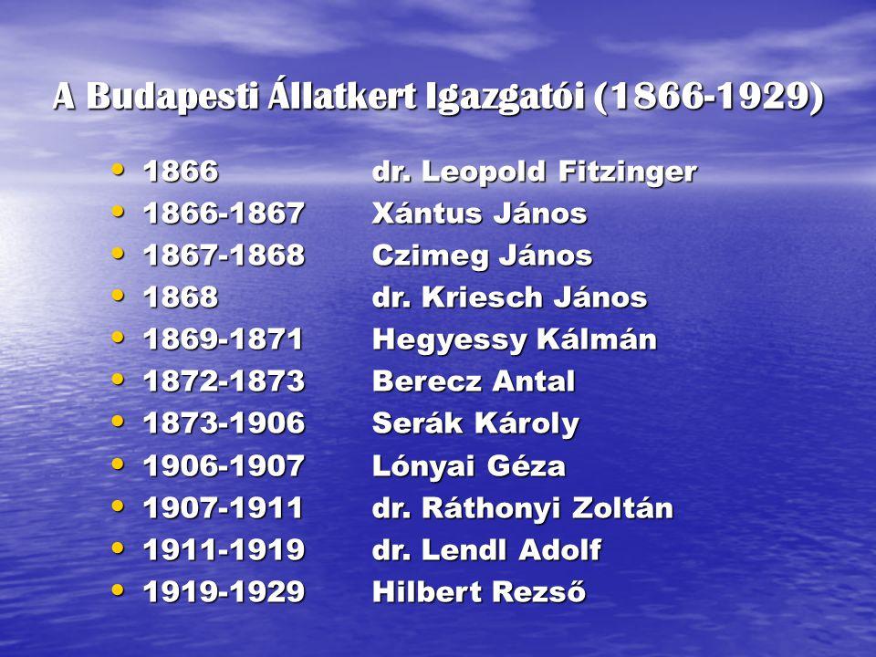 A Budapesti Állatkert Igazgatói (1866-1929)