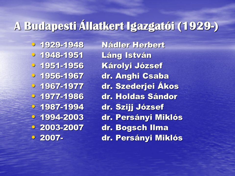 A Budapesti Állatkert Igazgatói (1929-)