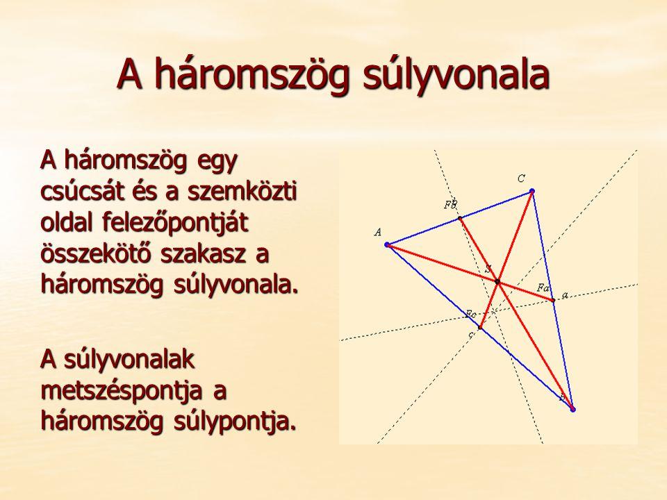 A háromszög súlyvonala