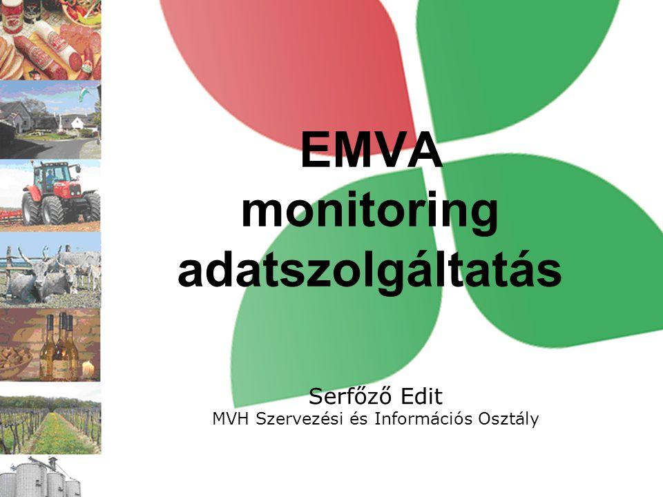 EMVA monitoring adatszolgáltatás