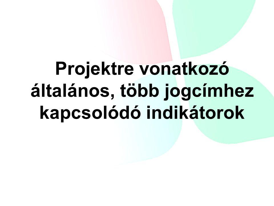 Projektre vonatkozó általános, több jogcímhez kapcsolódó indikátorok