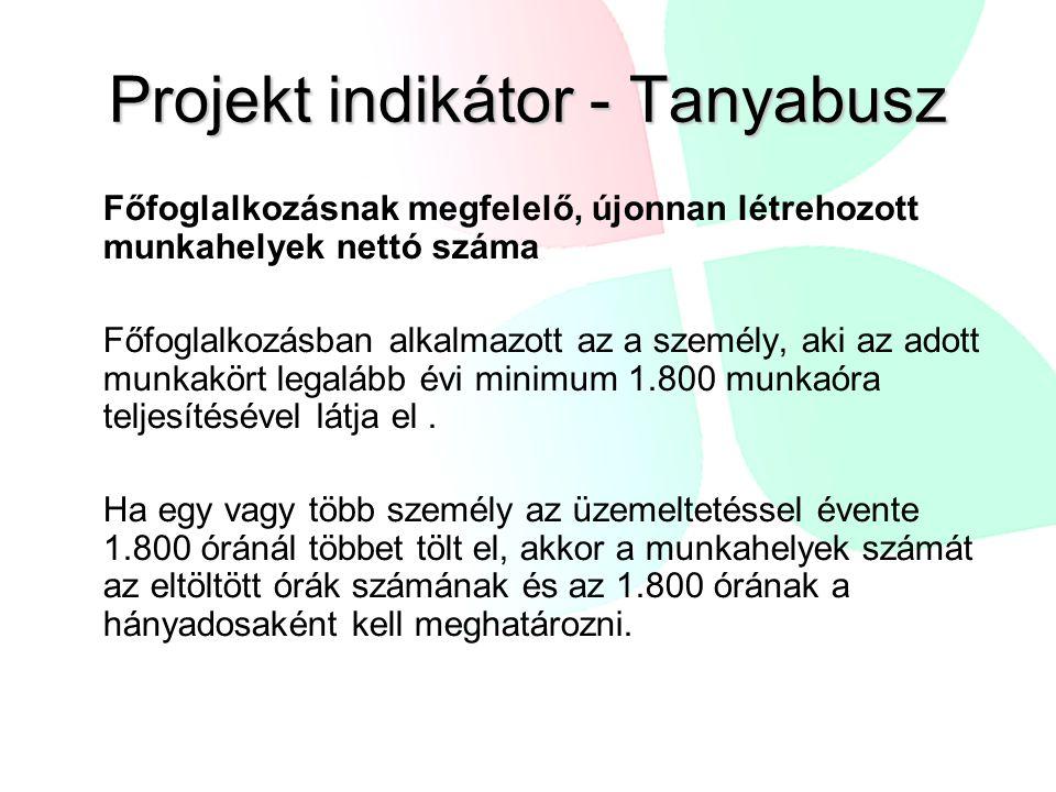 Projekt indikátor - Tanyabusz