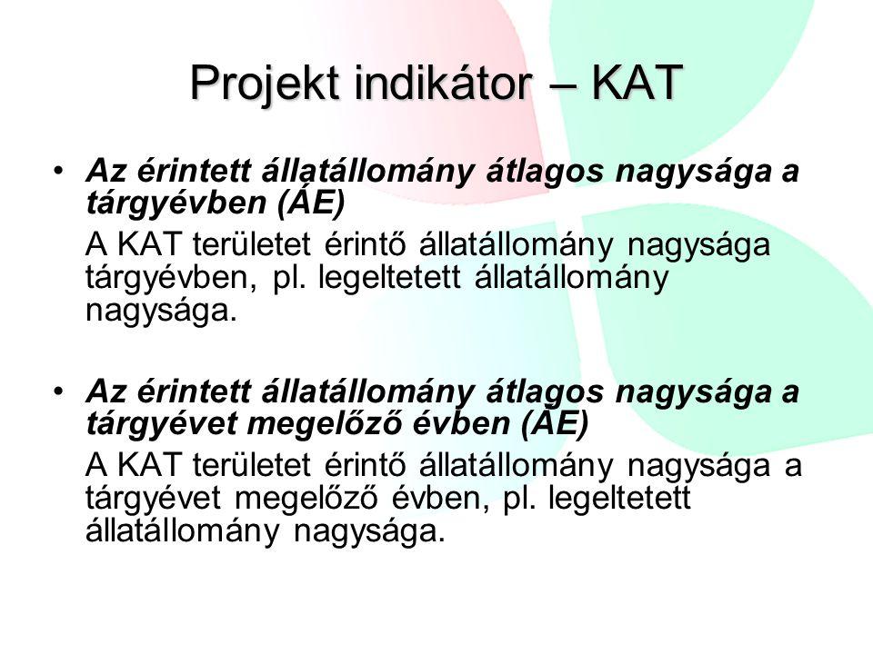 Projekt indikátor – KAT