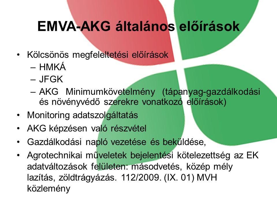 EMVA-AKG általános előírások