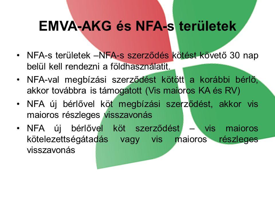 EMVA-AKG és NFA-s területek
