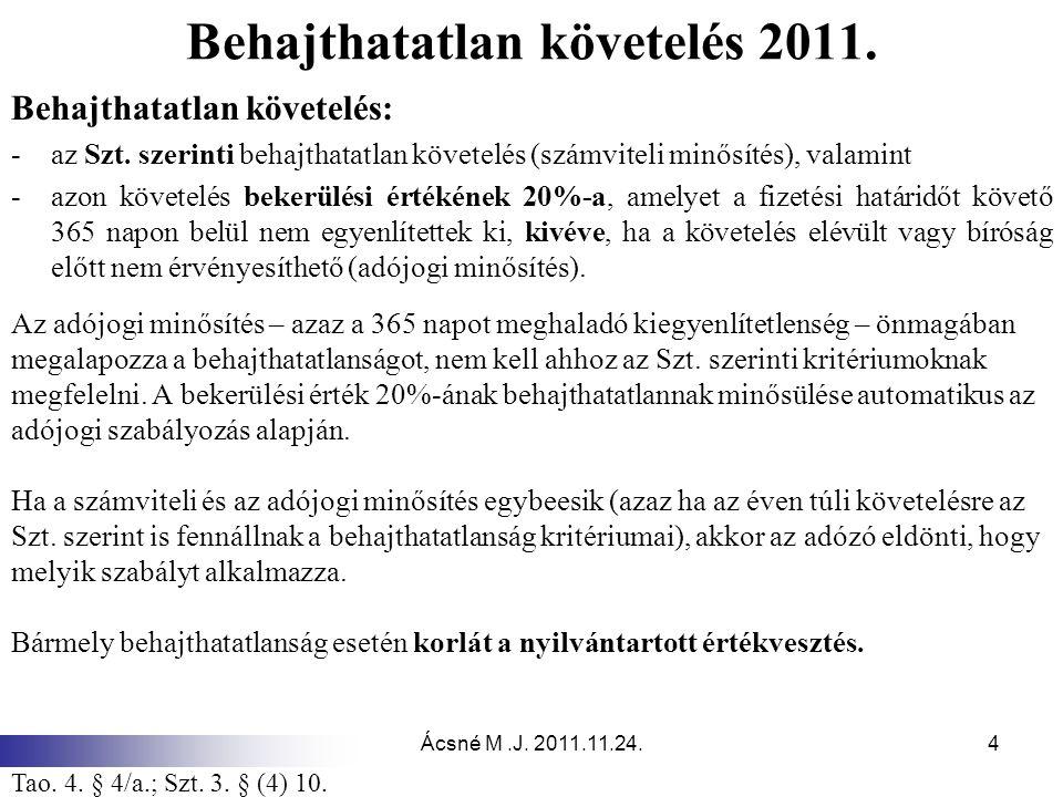 Behajthatatlan követelés 2011.