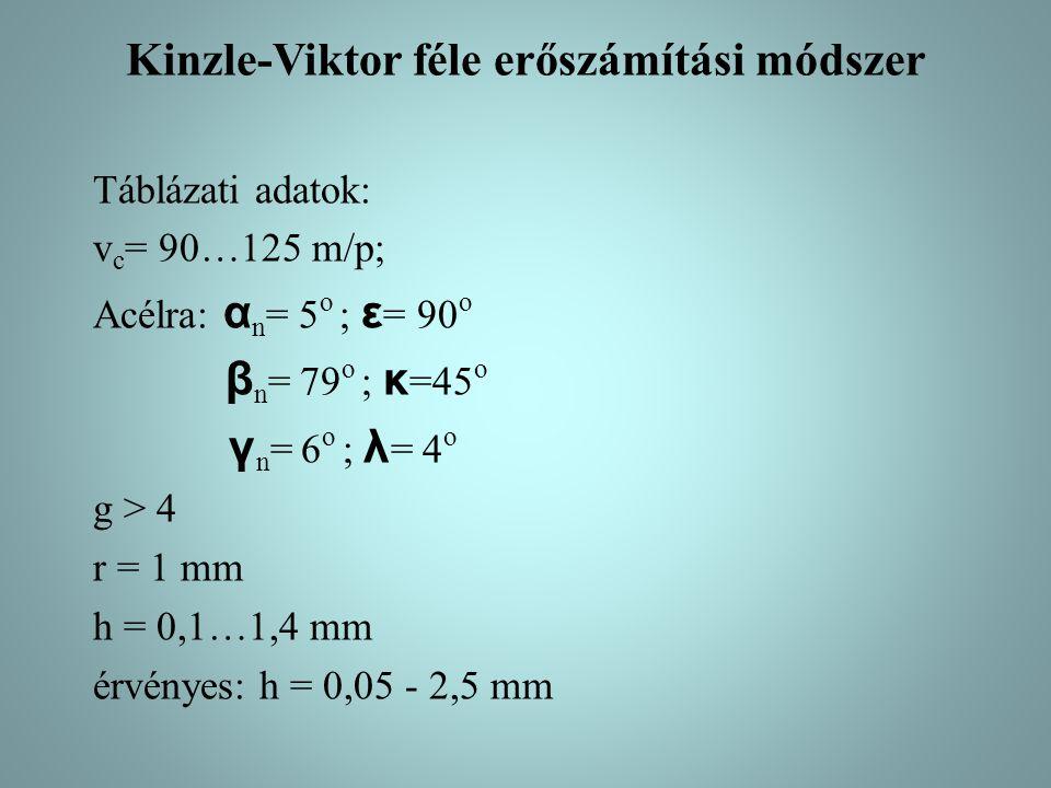 Kinzle-Viktor féle erőszámítási módszer