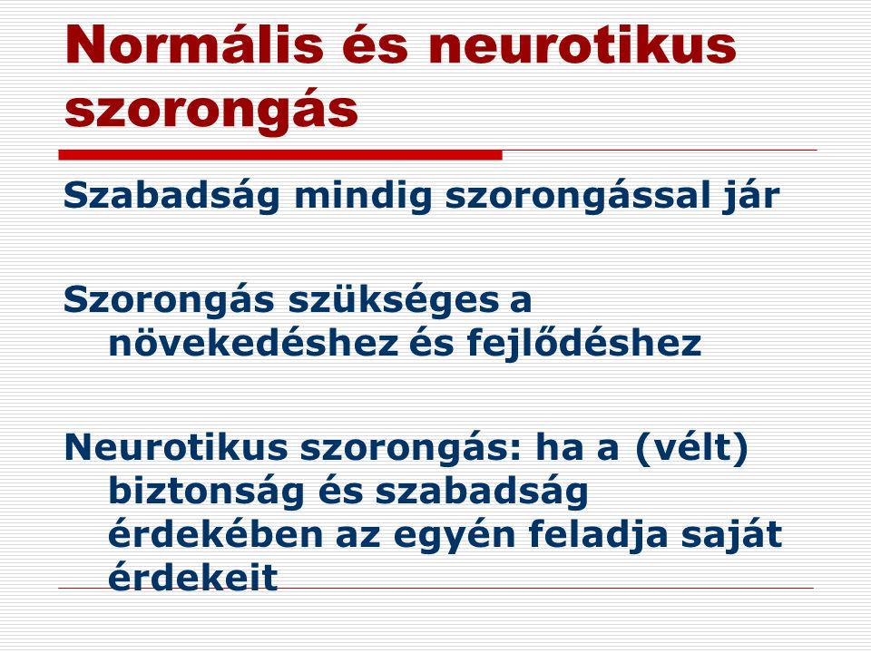 Normális és neurotikus szorongás