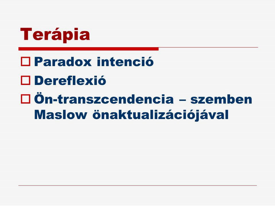 Terápia Paradox intenció Dereflexió