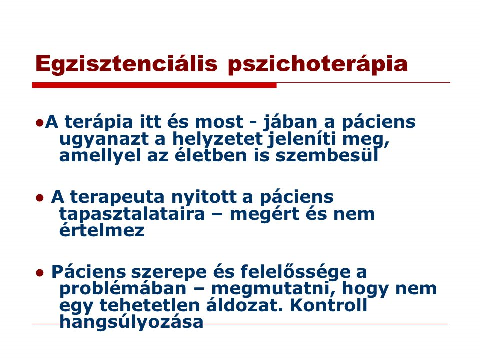 Egzisztenciális pszichoterápia