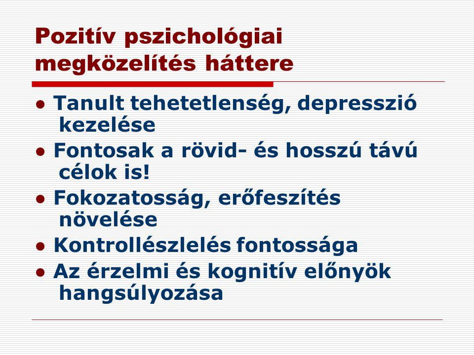 Pozitív pszichológiai megközelítés háttere