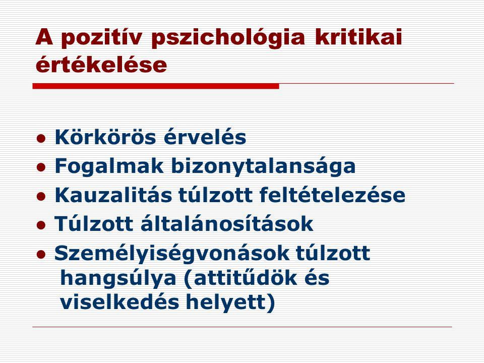 A pozitív pszichológia kritikai értékelése