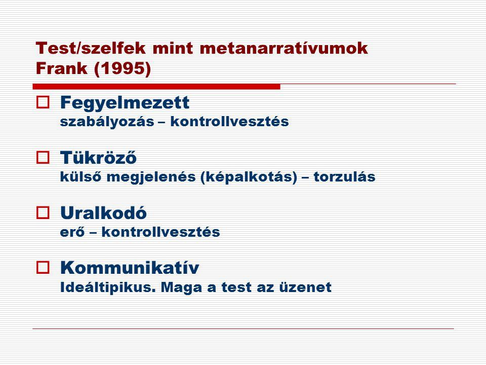 Test/szelfek mint metanarratívumok Frank (1995)