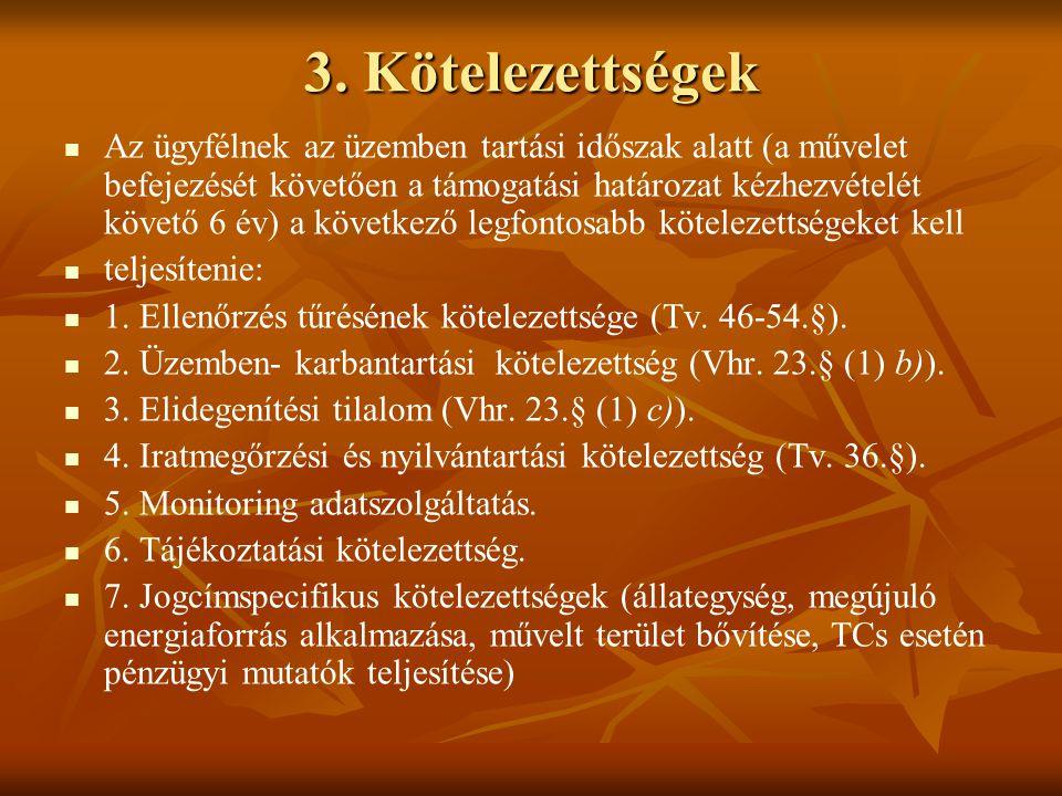 3. Kötelezettségek
