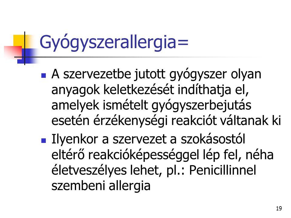 Gyógyszerallergia=