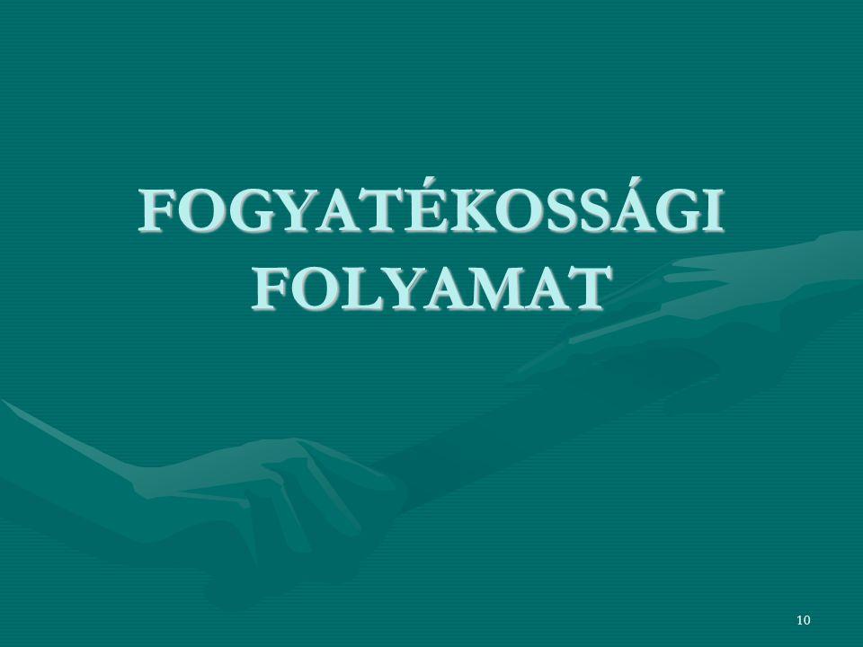 FOGYATÉKOSSÁGI FOLYAMAT