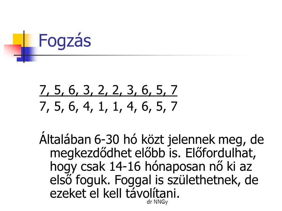 Fogzás 7, 5, 6, 3, 2, 2, 3, 6, 5, 7. 7, 5, 6, 4, 1, 1, 4, 6, 5, 7.