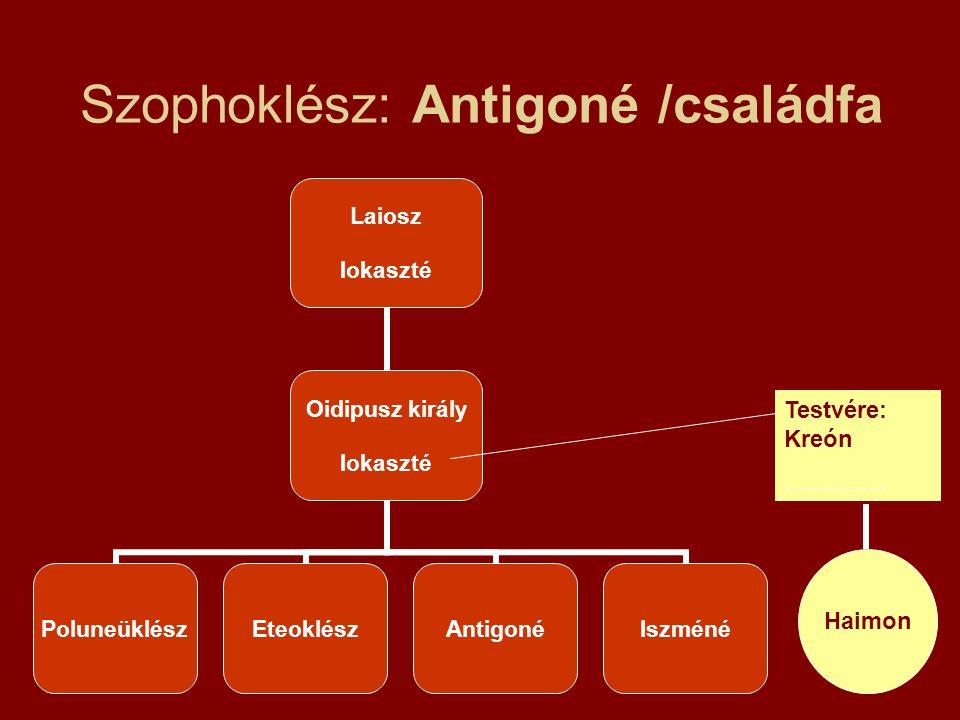Szophoklész: Antigoné /családfa