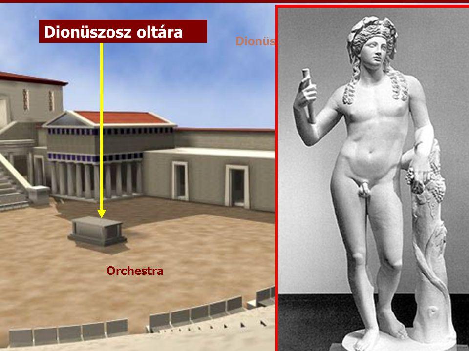 dioniszosz Dionüszosz oltára Dionüszosz-színház (rekonstrukció)