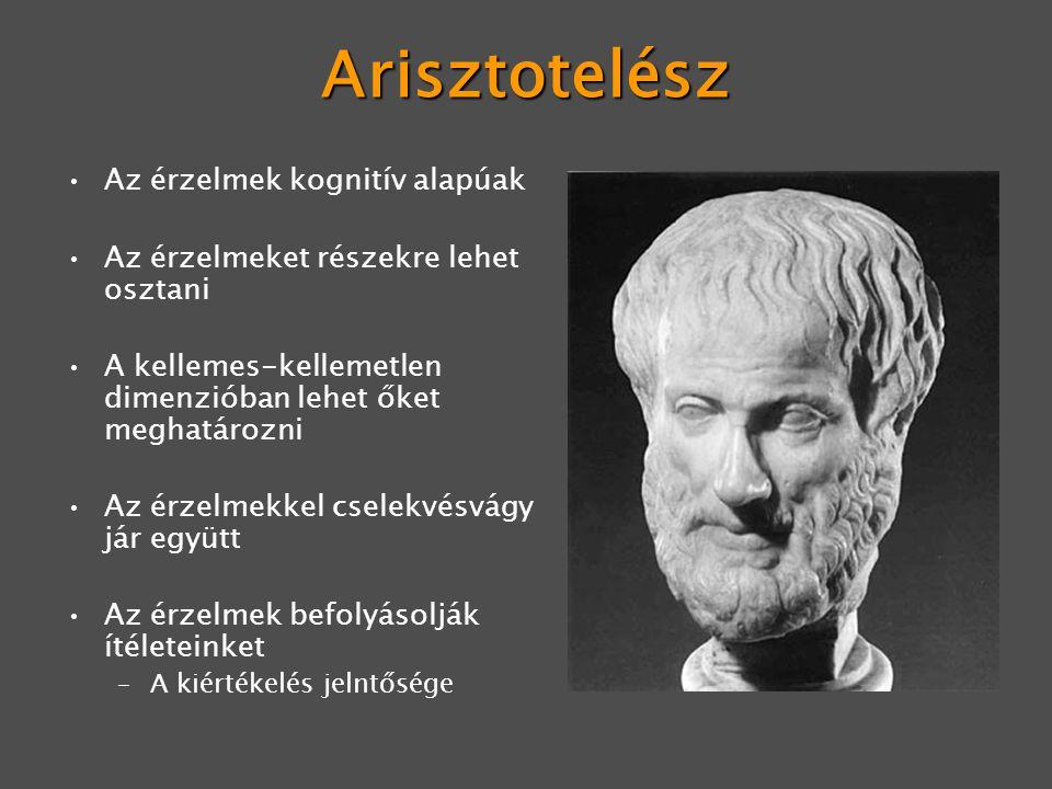 Arisztotelész Az érzelmek kognitív alapúak