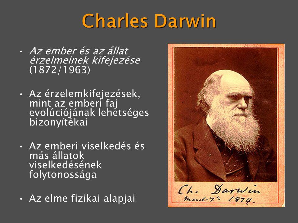 Charles Darwin Az ember és az állat érzelmeinek kifejezése (1872/1963)